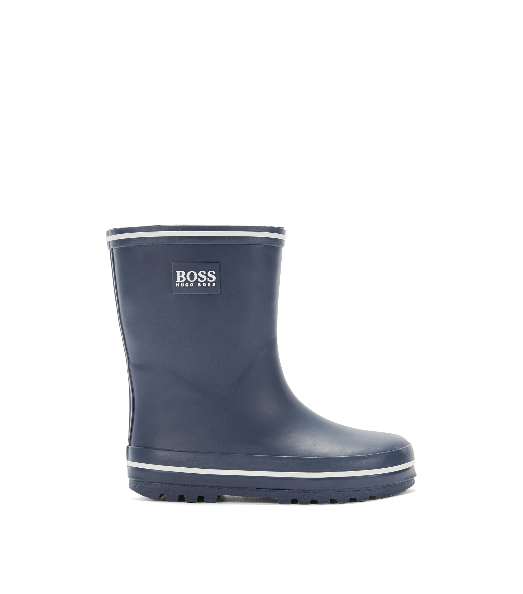 Kids' wellington boots in rubber, Dark Blue