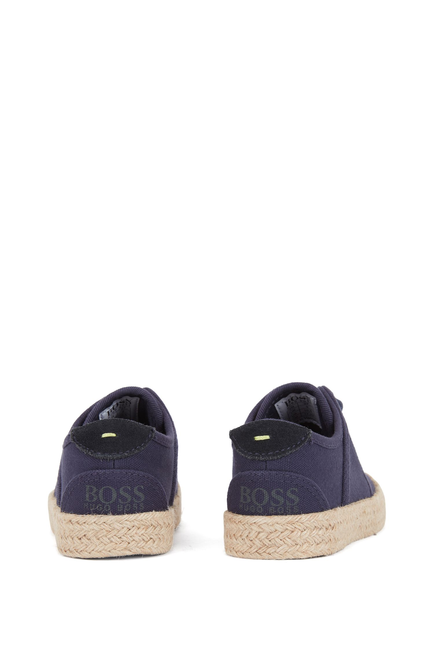 Kids' espadrille-style trainers in cotton canvas