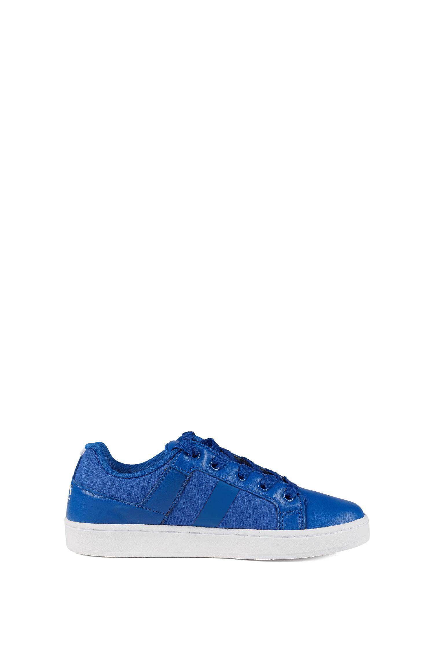 Kids-Sneakers aus Leder und Ripstop-Nylon, Blau