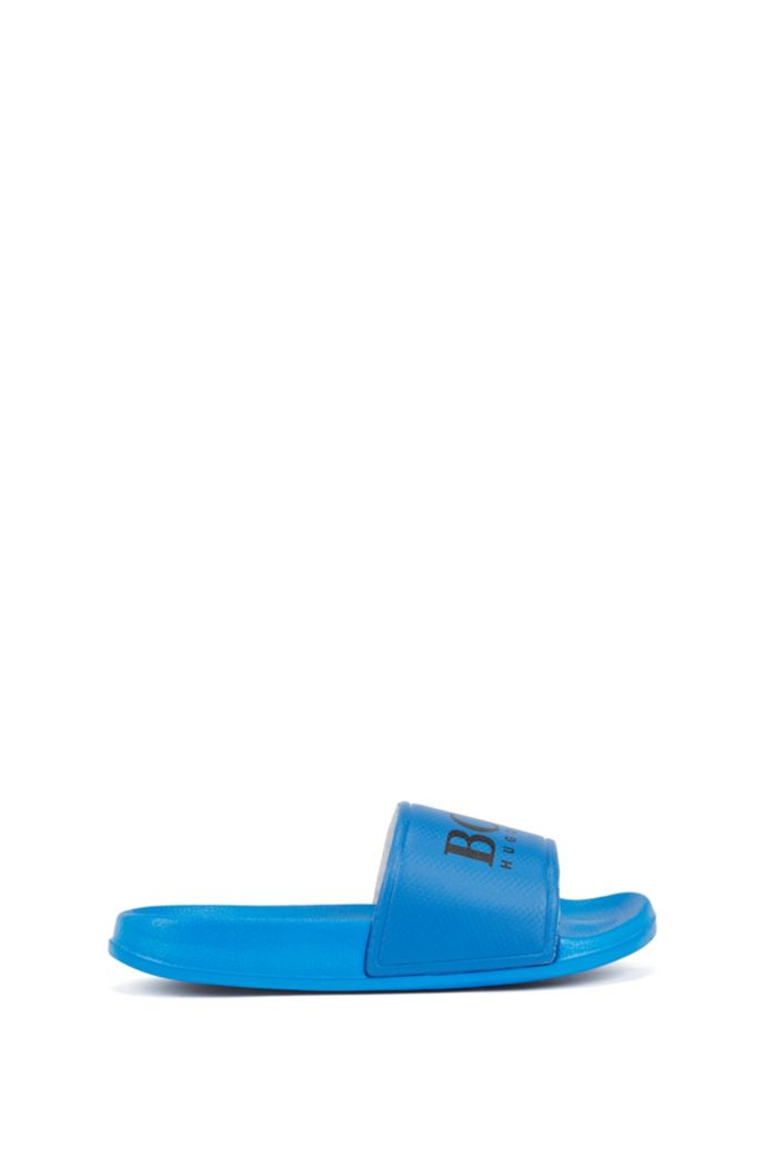 Kids' slides with contrast-logo strap