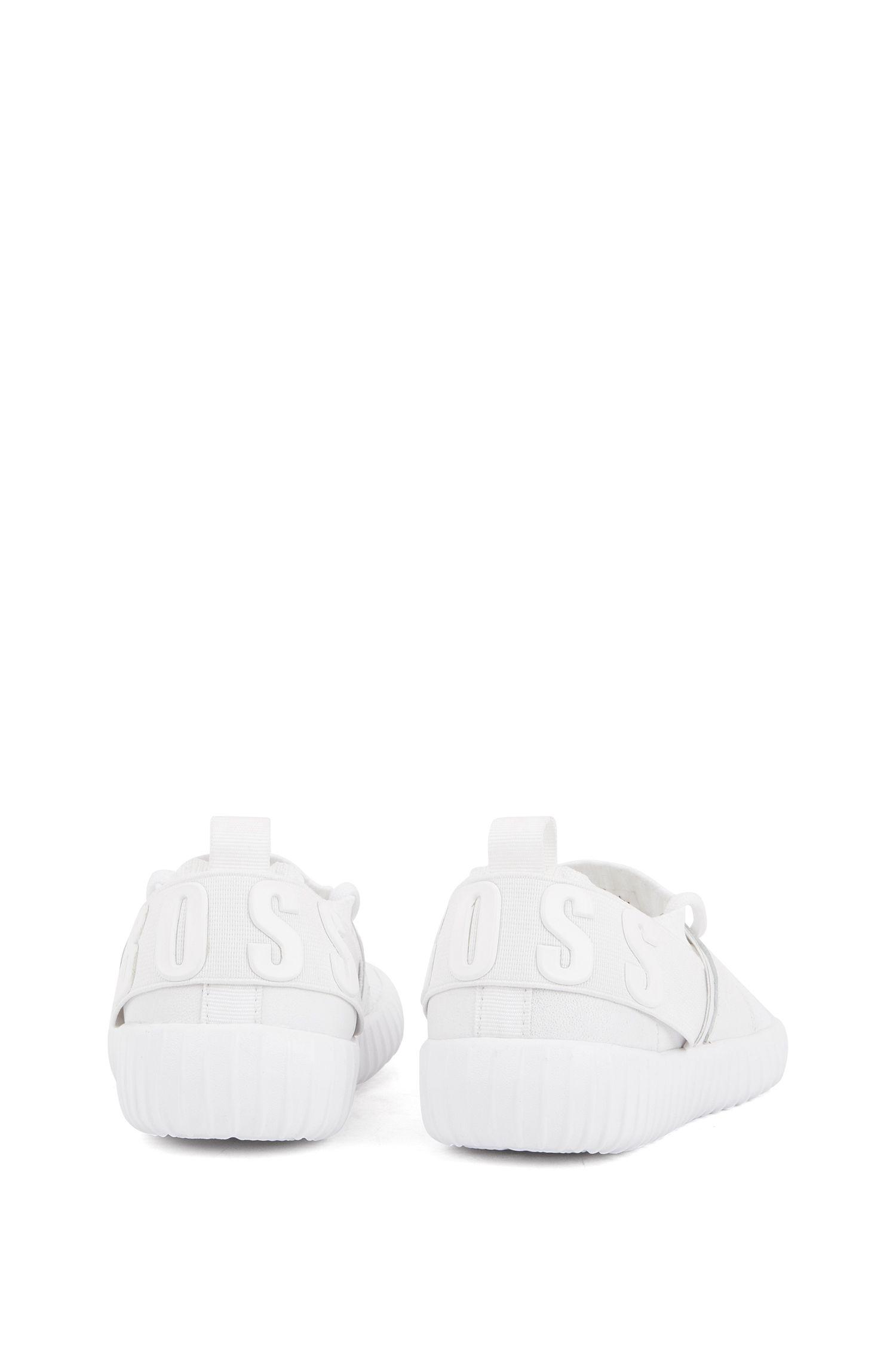 Baskets hybrides pour enfant avec logo en relief, Blanc