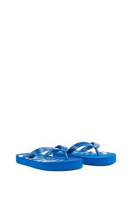 Kids-Flipflops mit Logo-Riemen und Details, Blau