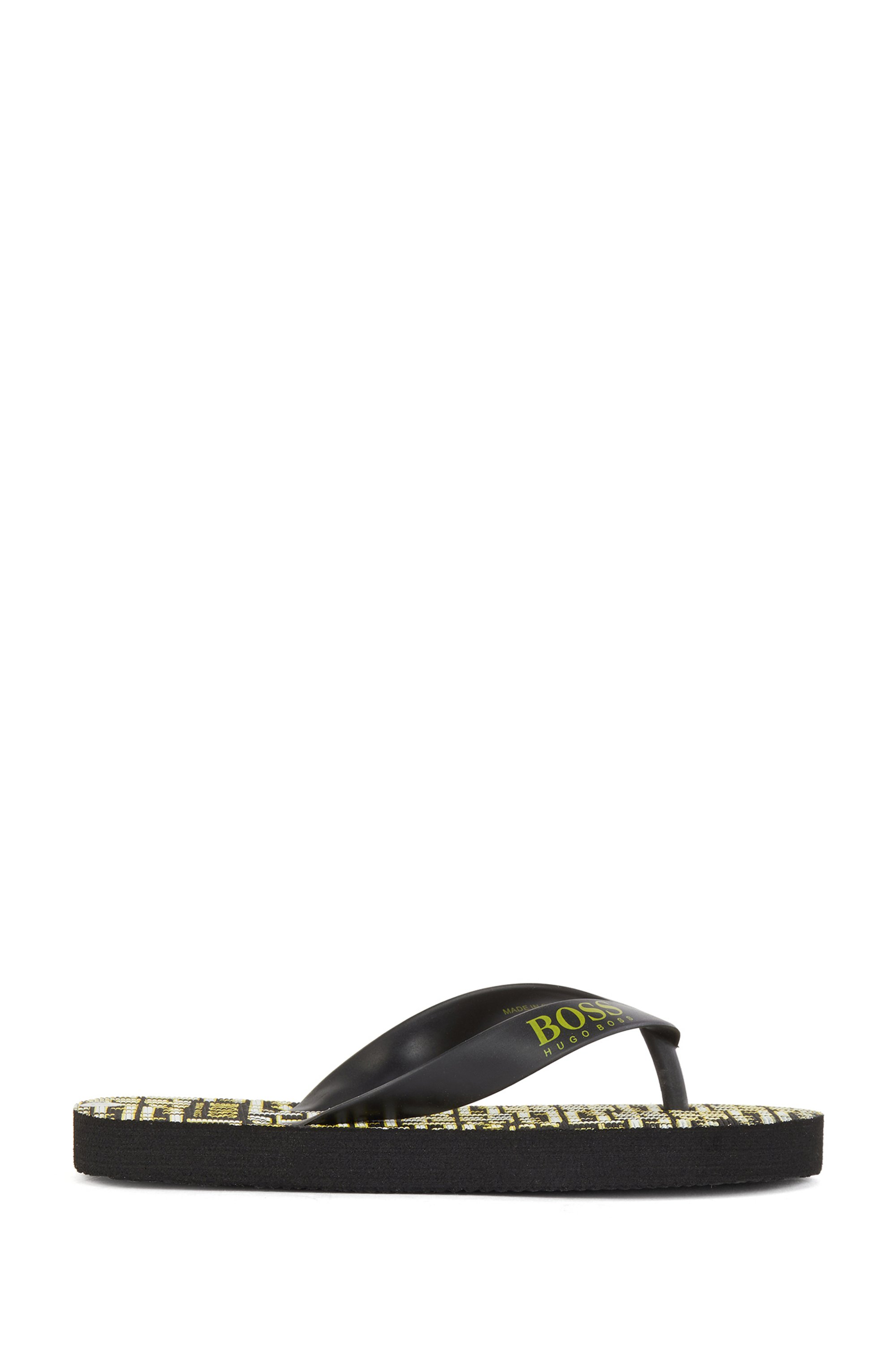 Kids' flip-flops with monogram sole and logo strap