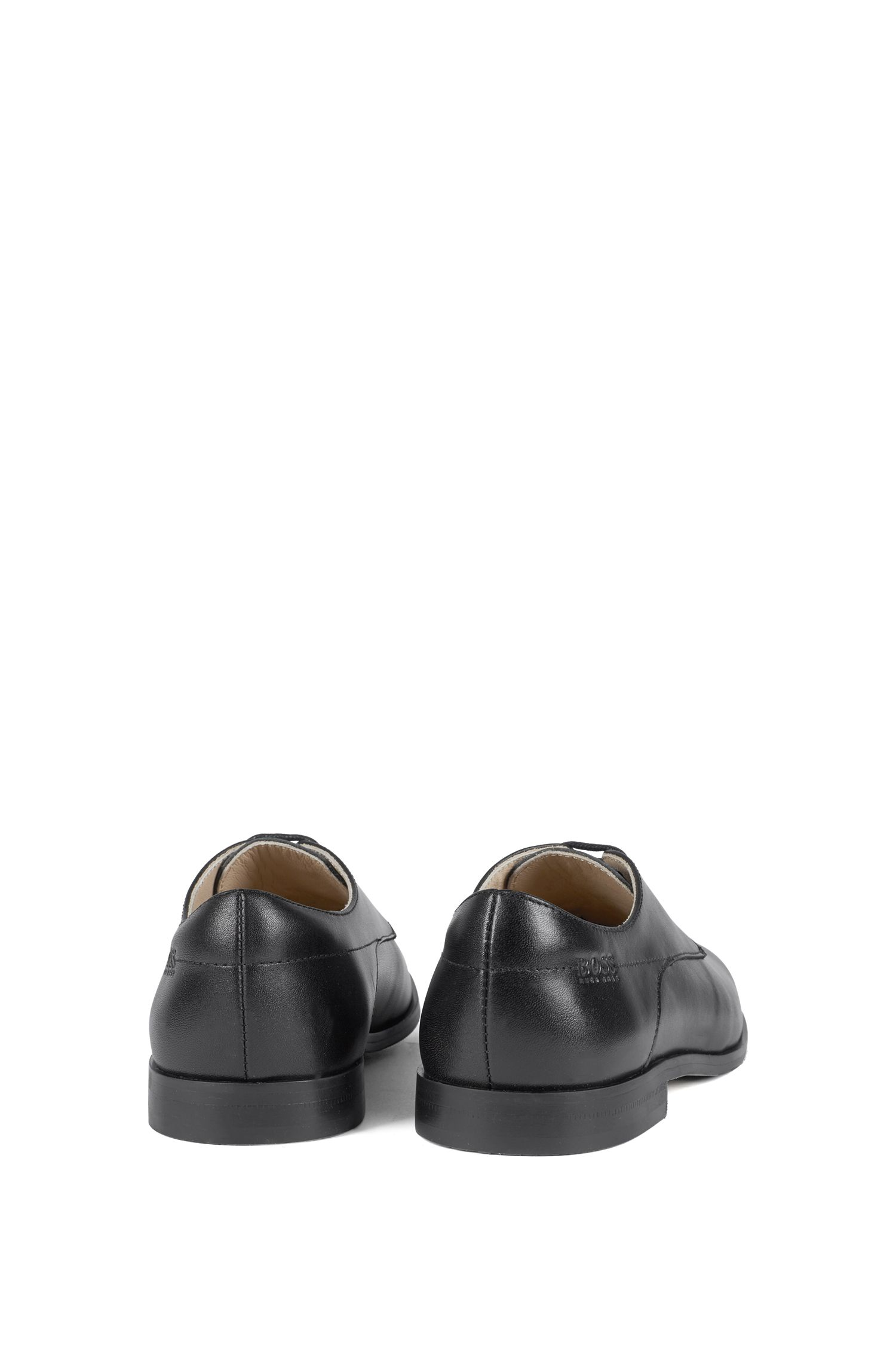 Kids' Derby shoes in smooth leather, Black