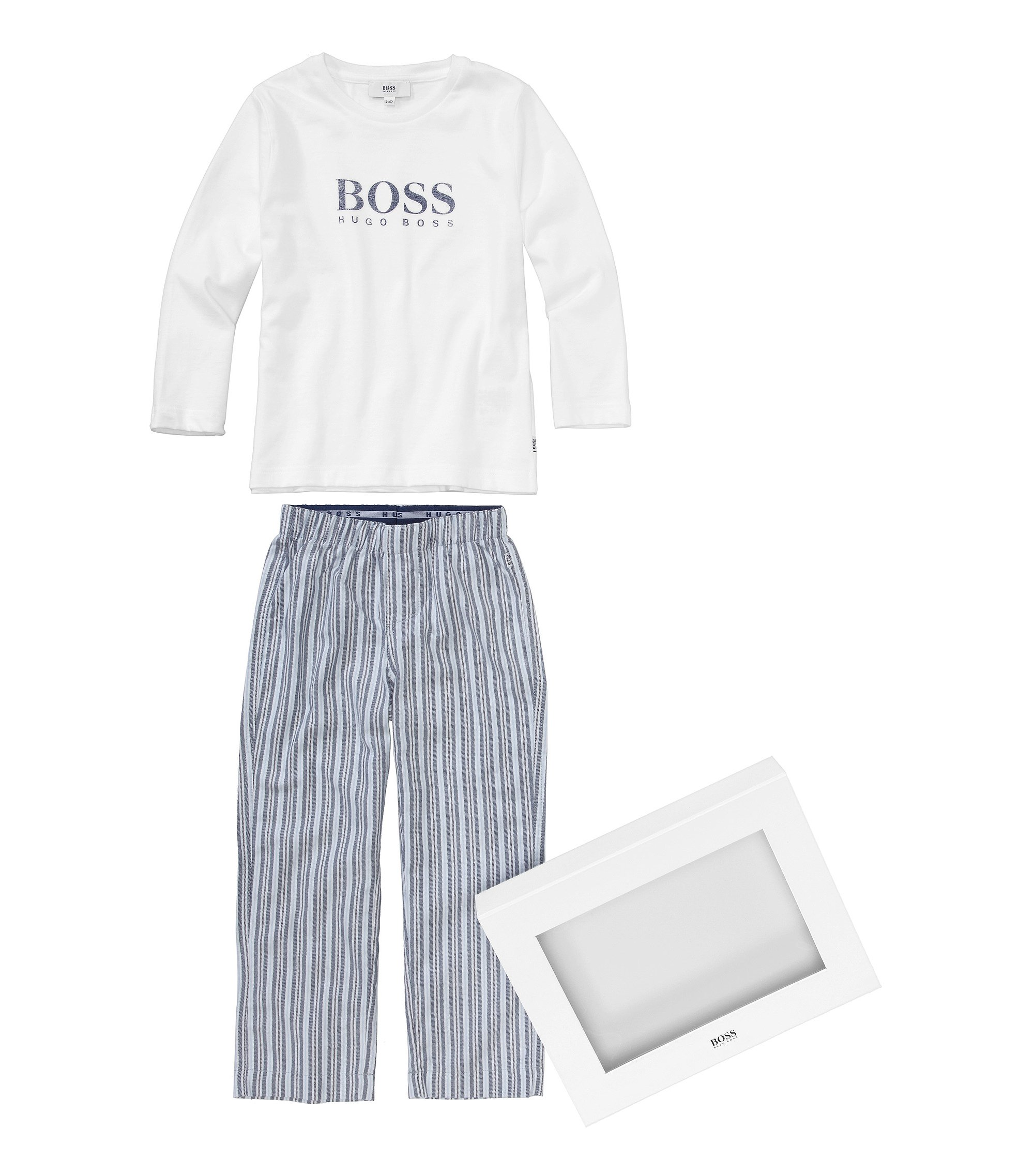 Pyjama pour enfant «J2K032» en coton, Blanc