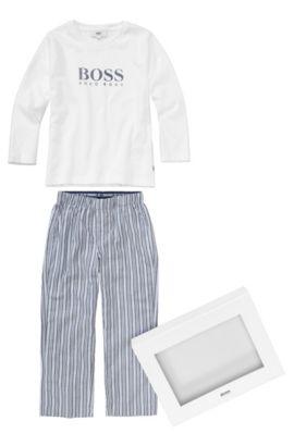 Kids-Pyjama-Set ´J2K032` aus Baumwolle, Weiß