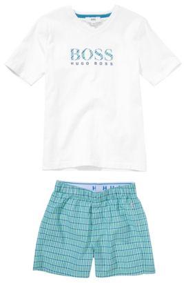 Kids-Pyjama-Set ´J2K036` aus Baumwolle, Weiß