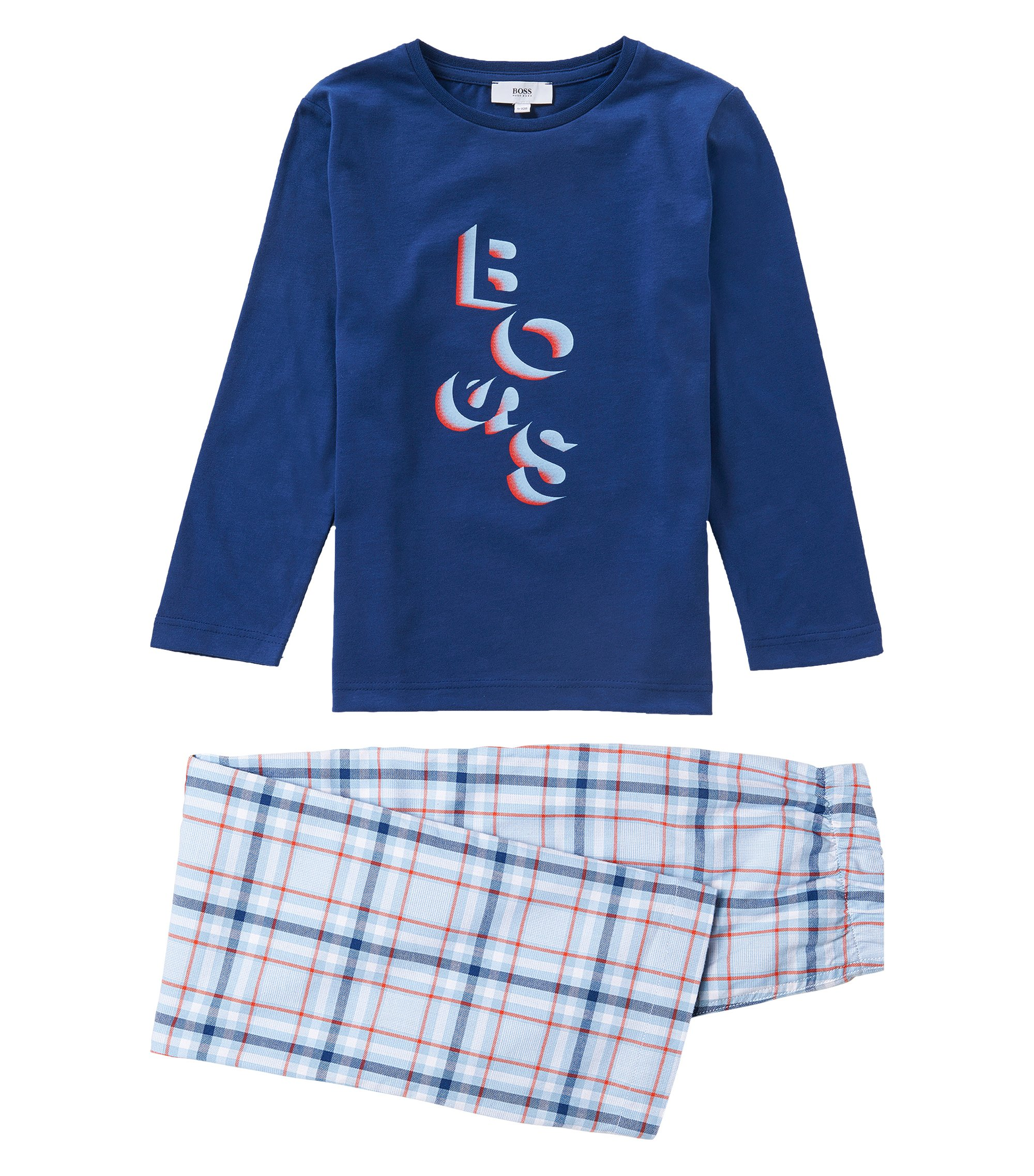 Schlafanzug aus Baumwolle: 'J2K038', Dunkelblau