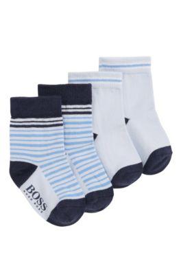 Baby-Socken aus Baumwolle im Zweier-Pack: 'J00077', Hellblau