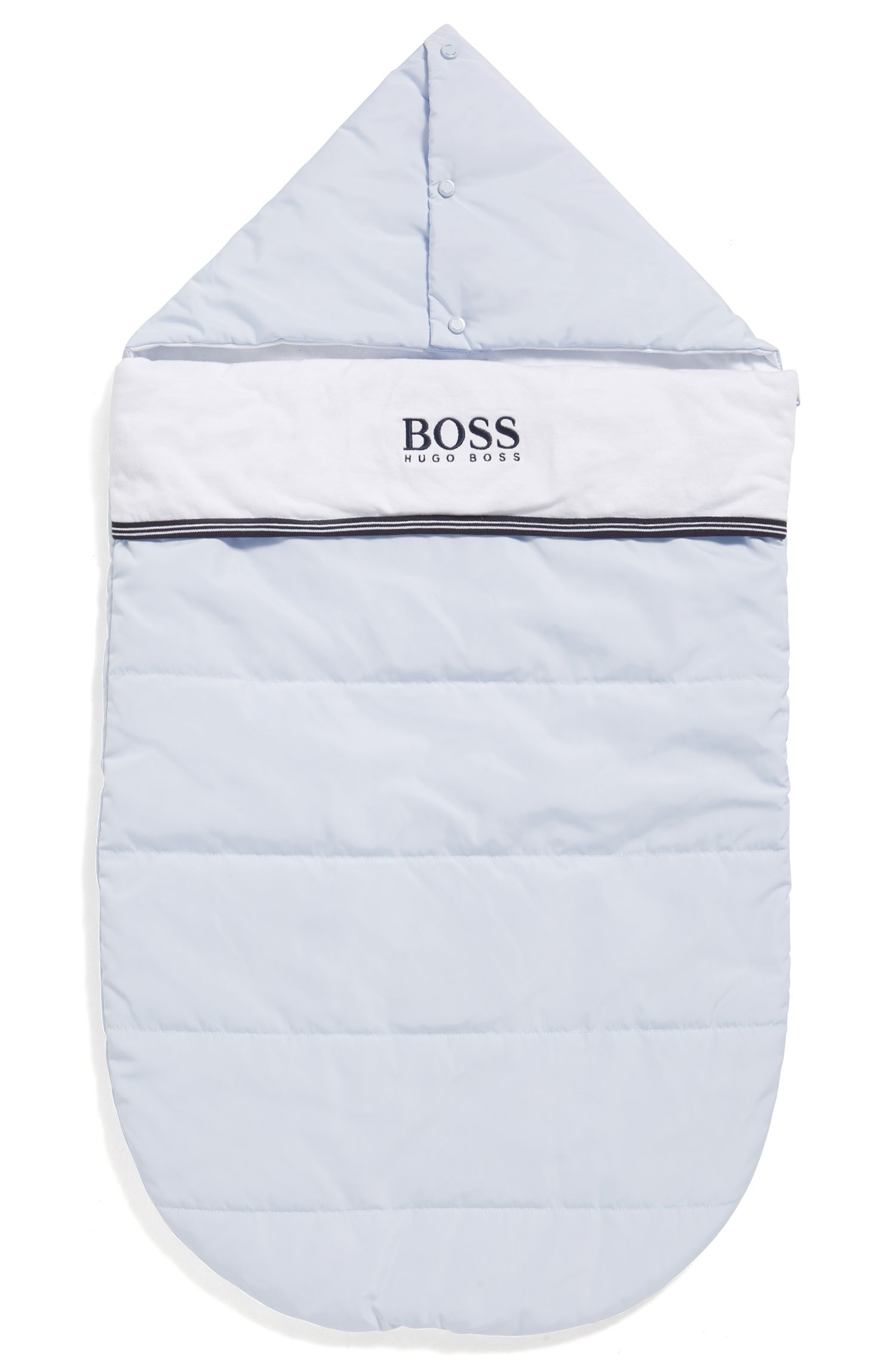 Baby quilted sleeping bag with jersey lining