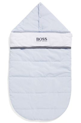 Baby quilted sleeping bag with jersey lining, Light Blue