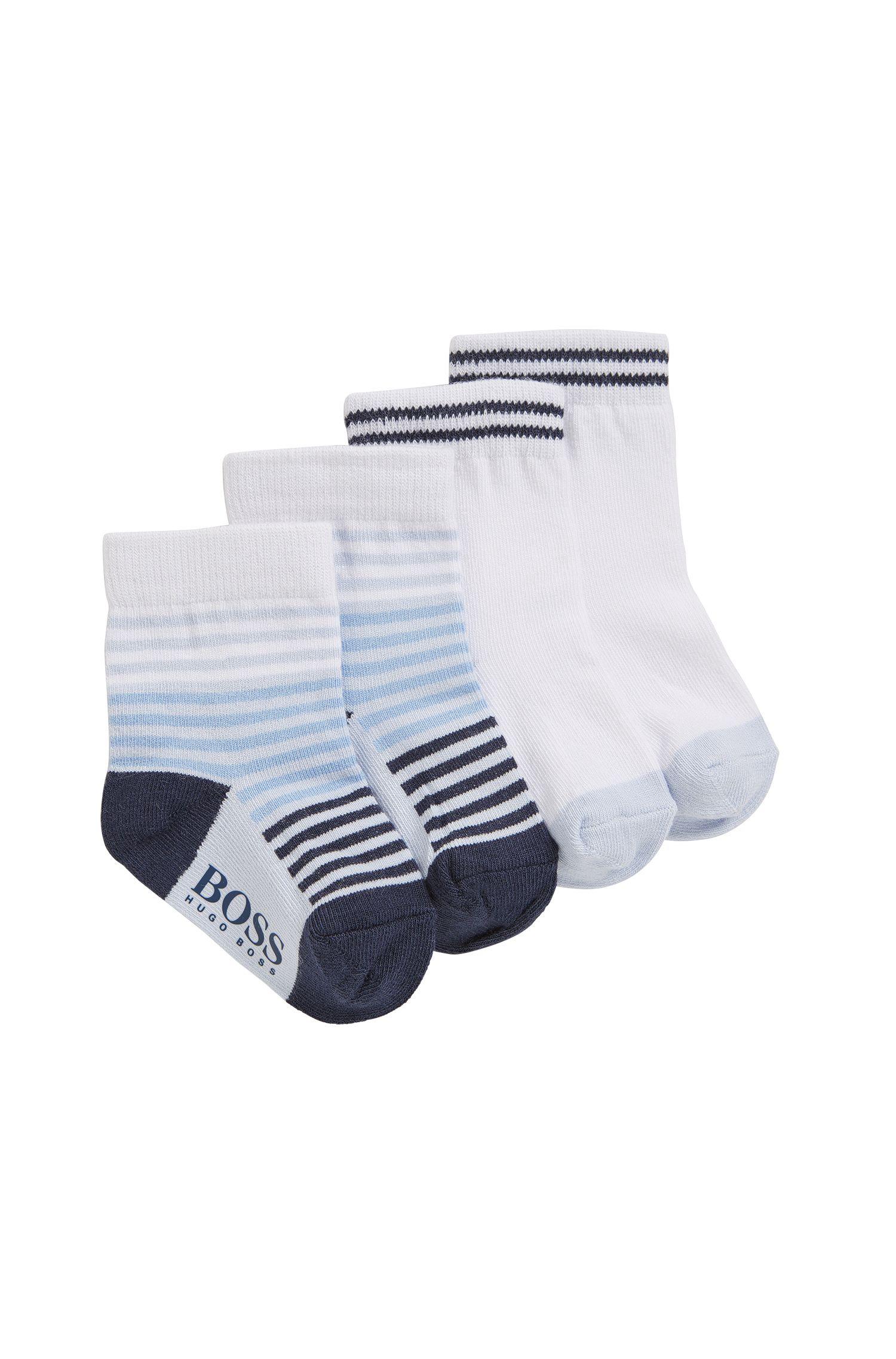 Lot de deux paires de chaussettes en coton mélangé pour bébé