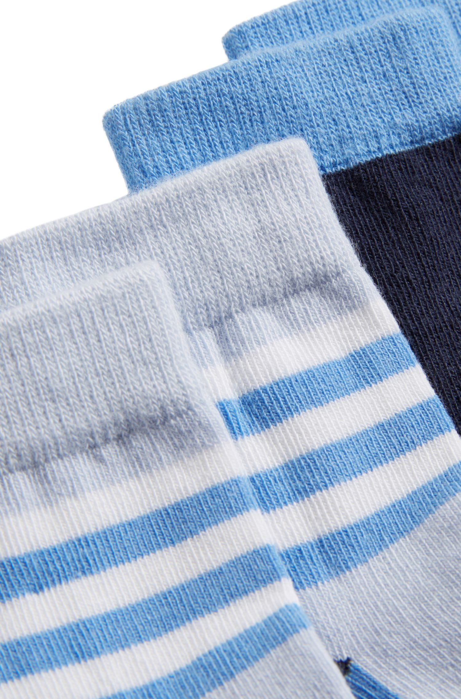 Baby-Socken aus elastischem Baumwoll-Mix im Zweier-Pack
