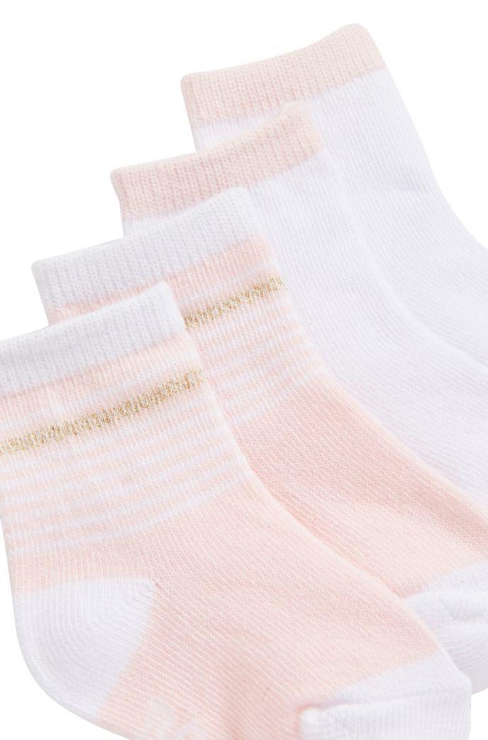 Calze da neonato in misto cotone in confezione da due
