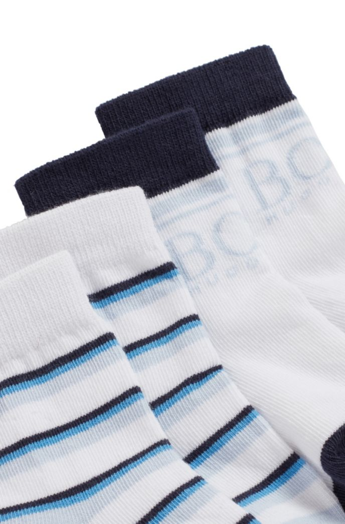 Two-pack of baby socks in a cotton blend
