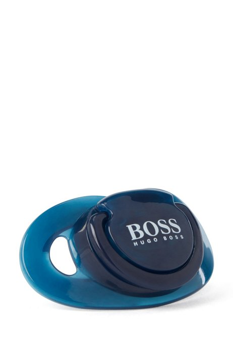 Baby dummy in silicone with printed logo, Dark Blue