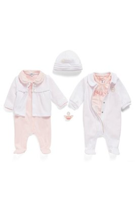 Baby dummy in silicone with printed logo, light pink