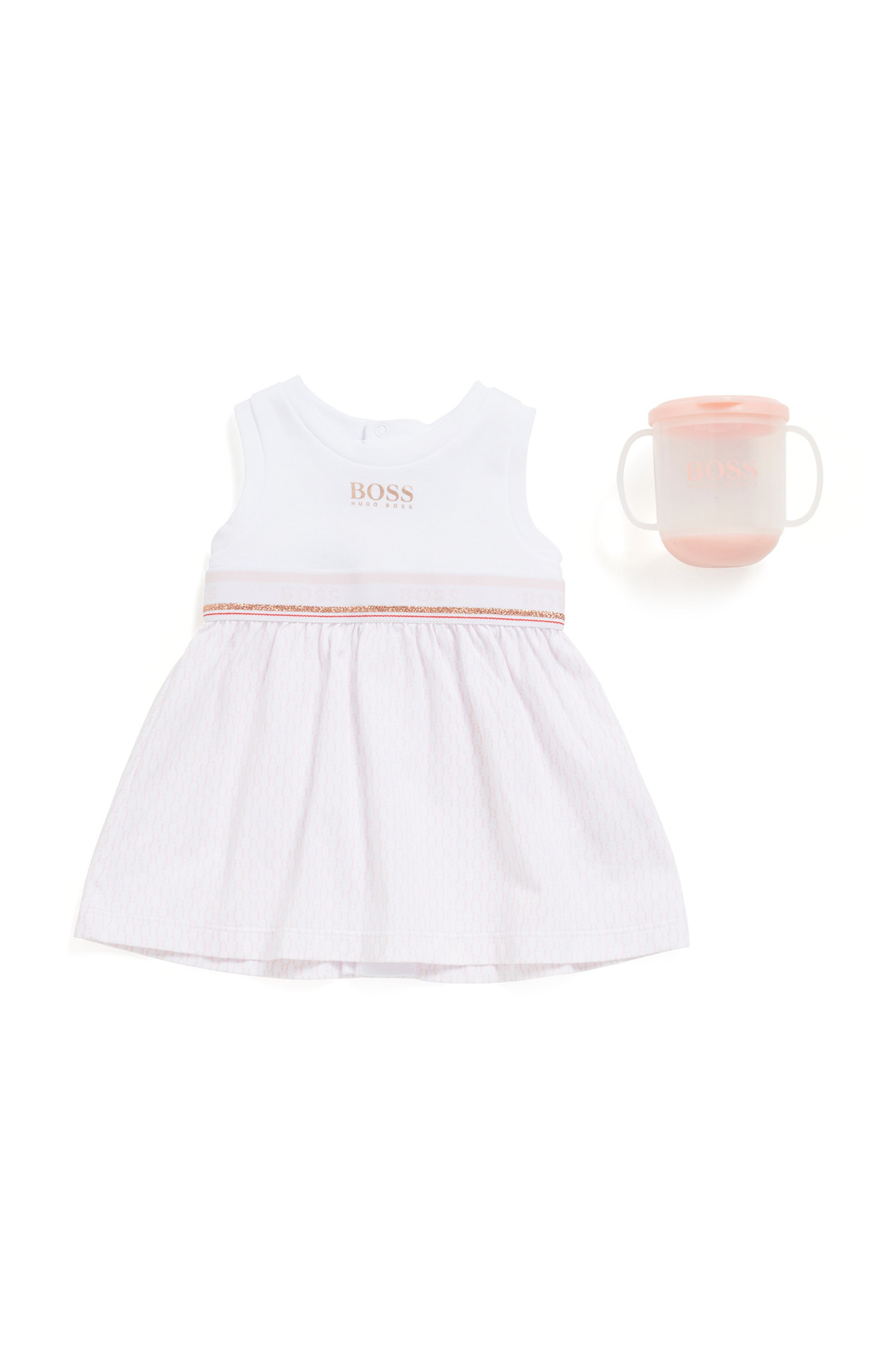 Baby cup in BPA-free plastic with printed logo