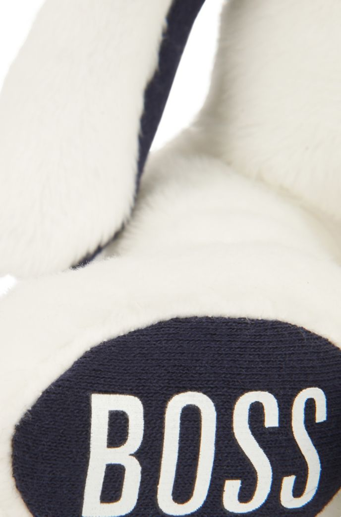 Baby faux-fur bunny with logo-print feet