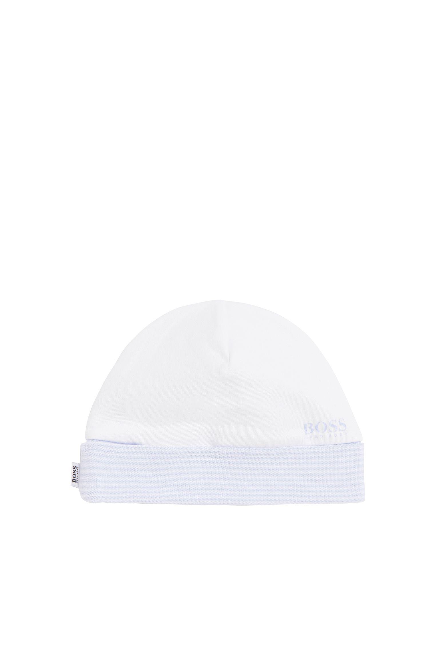 Bonnet en coton avec motif à rayures pour bébés: «J91064»