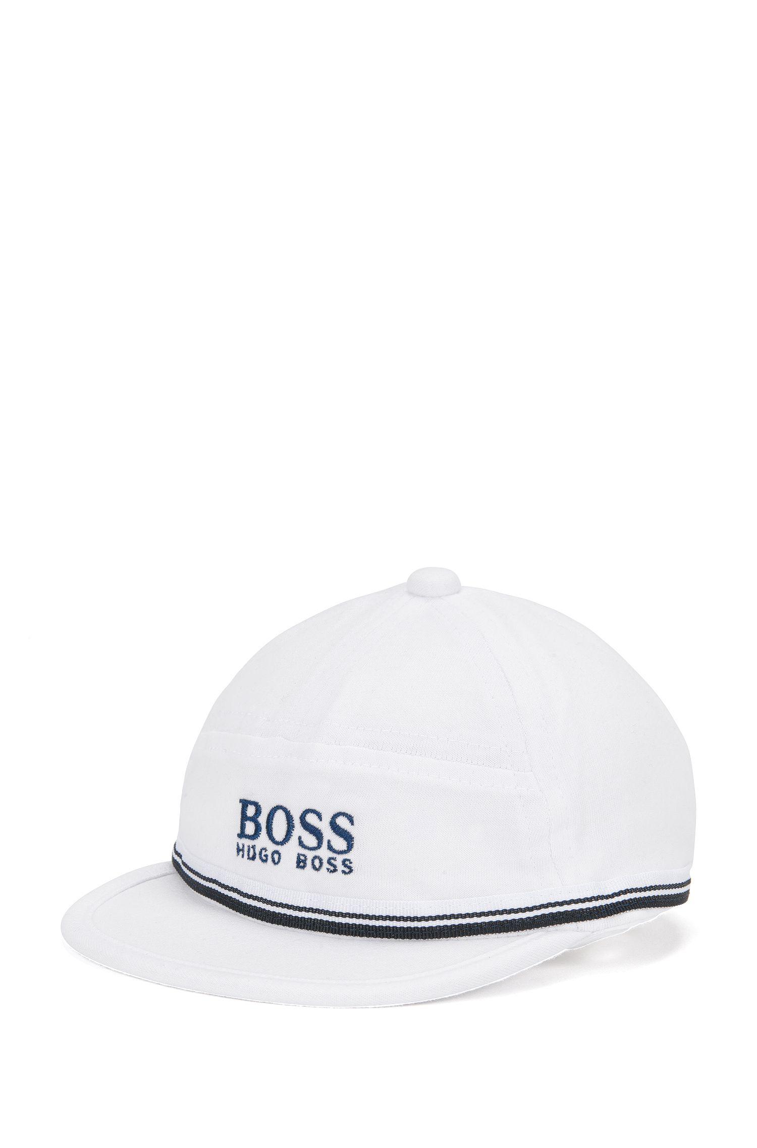 Cappello da neonato in cotone con visiera profilata: 'J91065'