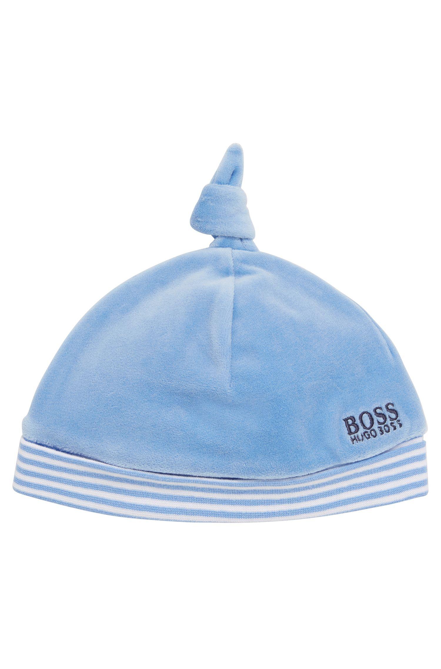Berretto da neonato in misto cotone con bordo risvoltato: 'J91070'