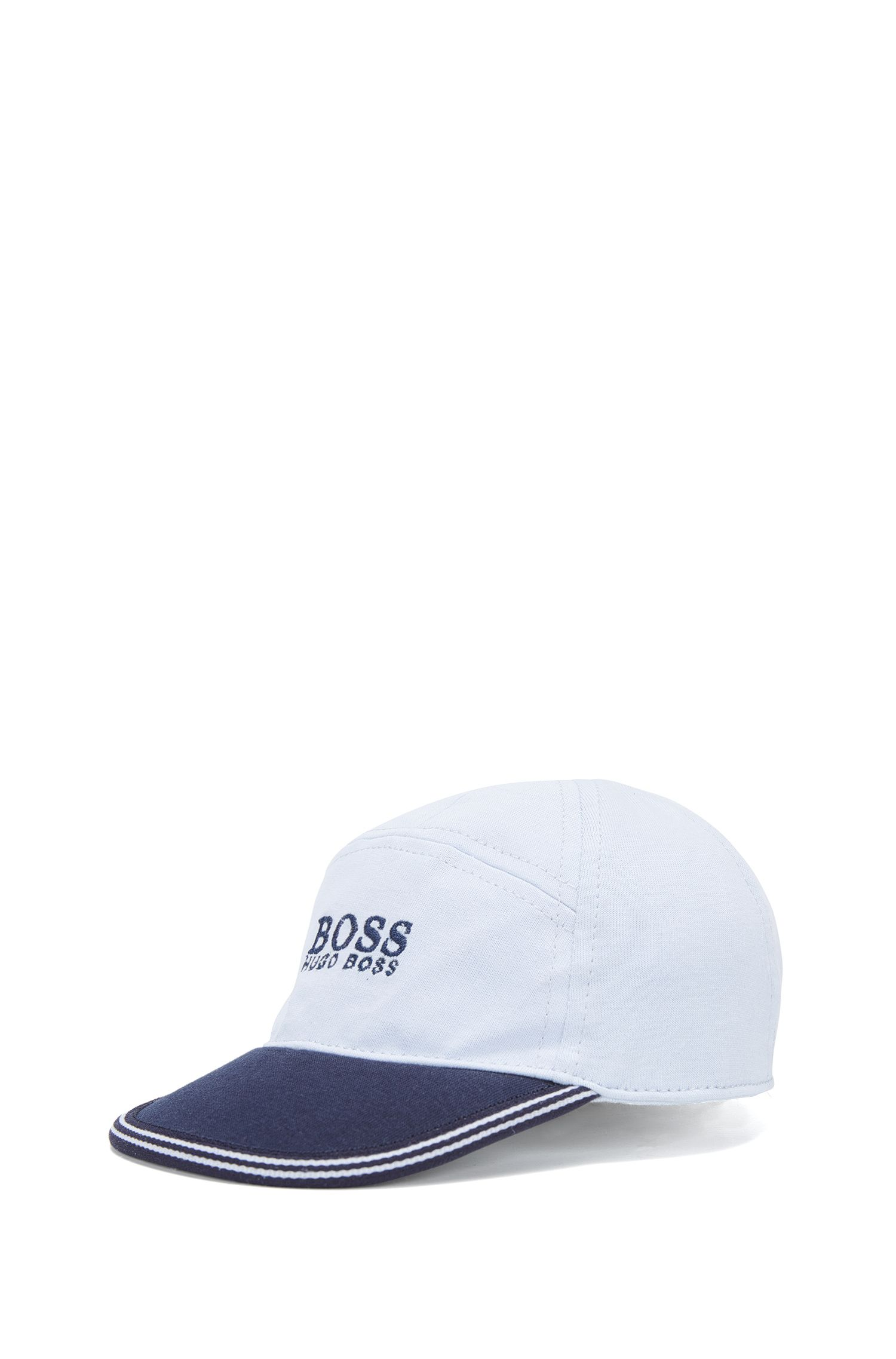 Baby baseball cap in cotton jersey