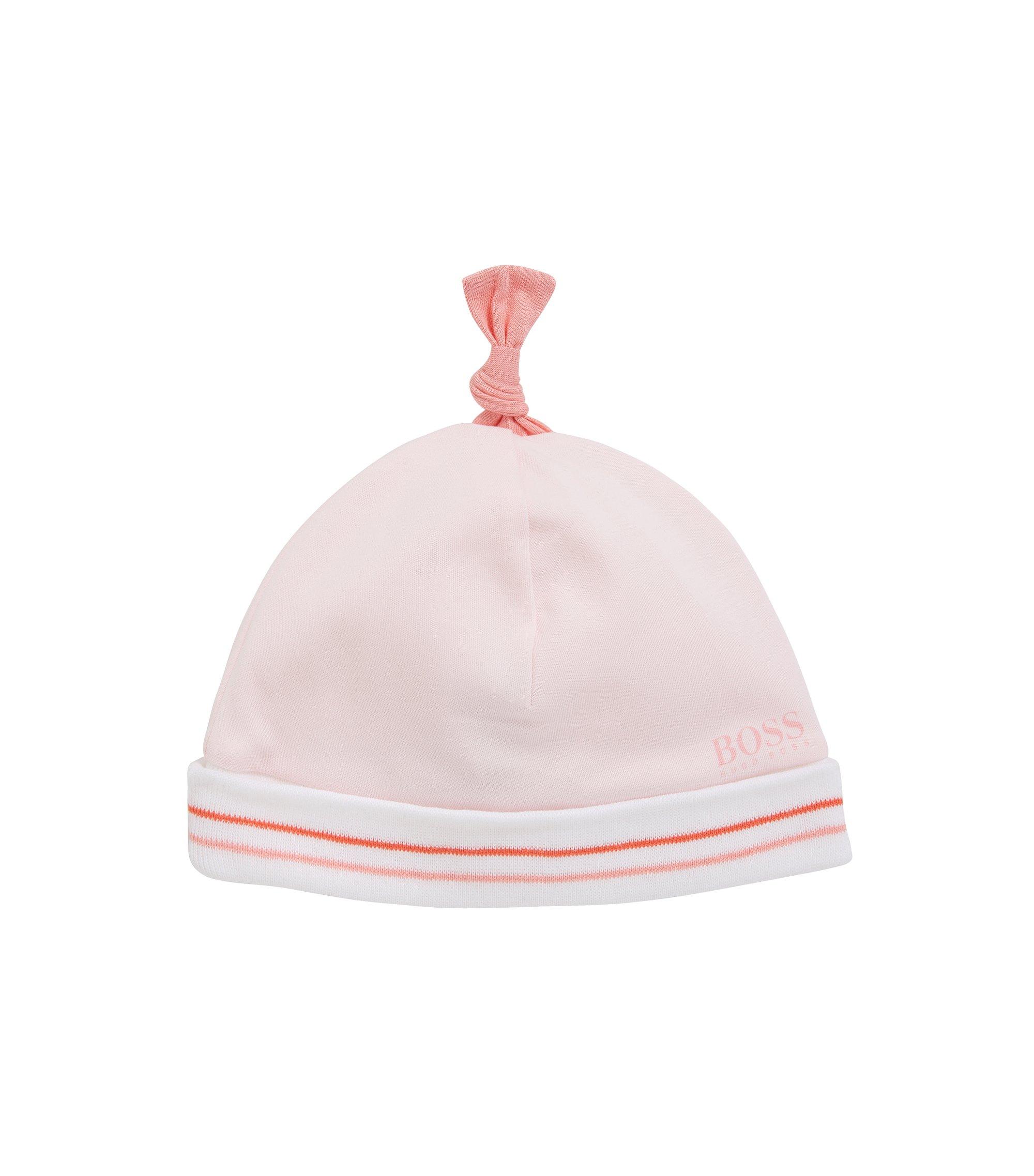Bonnet pour bébé en coton à revers: «J91076», Rose clair