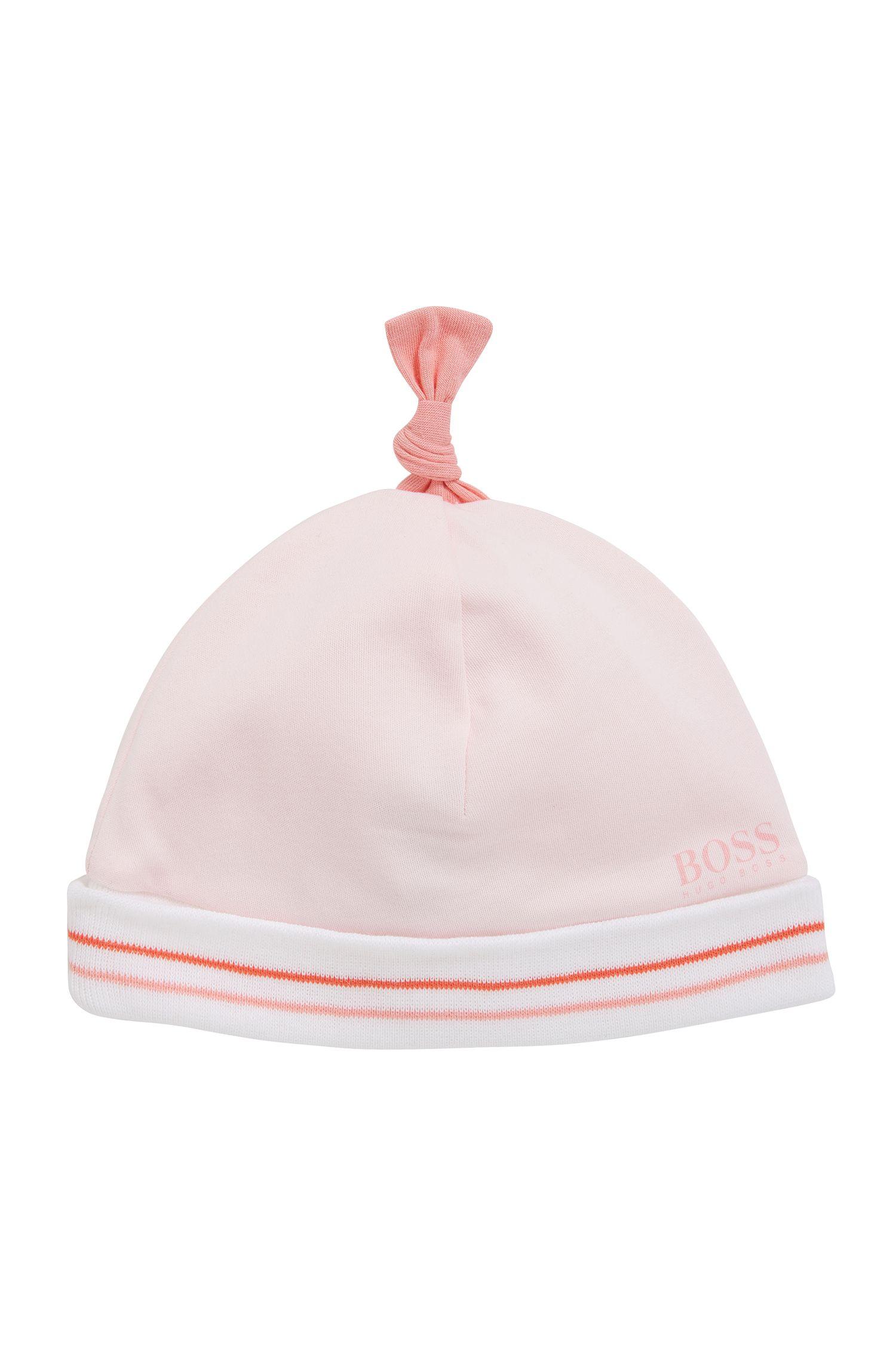 Bonnet pour bébé en coton à revers: «J91076»