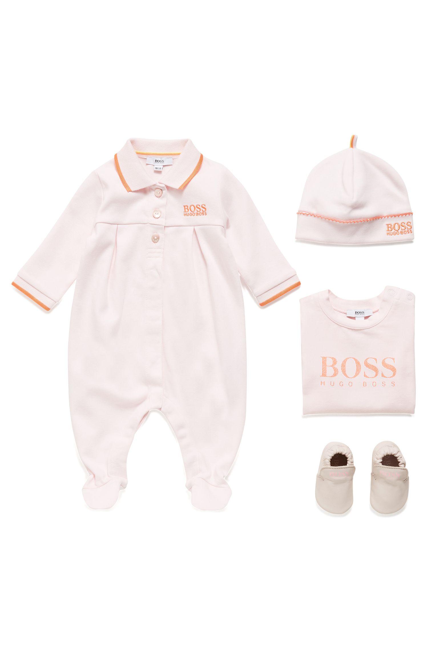 Gorro para bebé niña en algodón interlock, Rosa claro