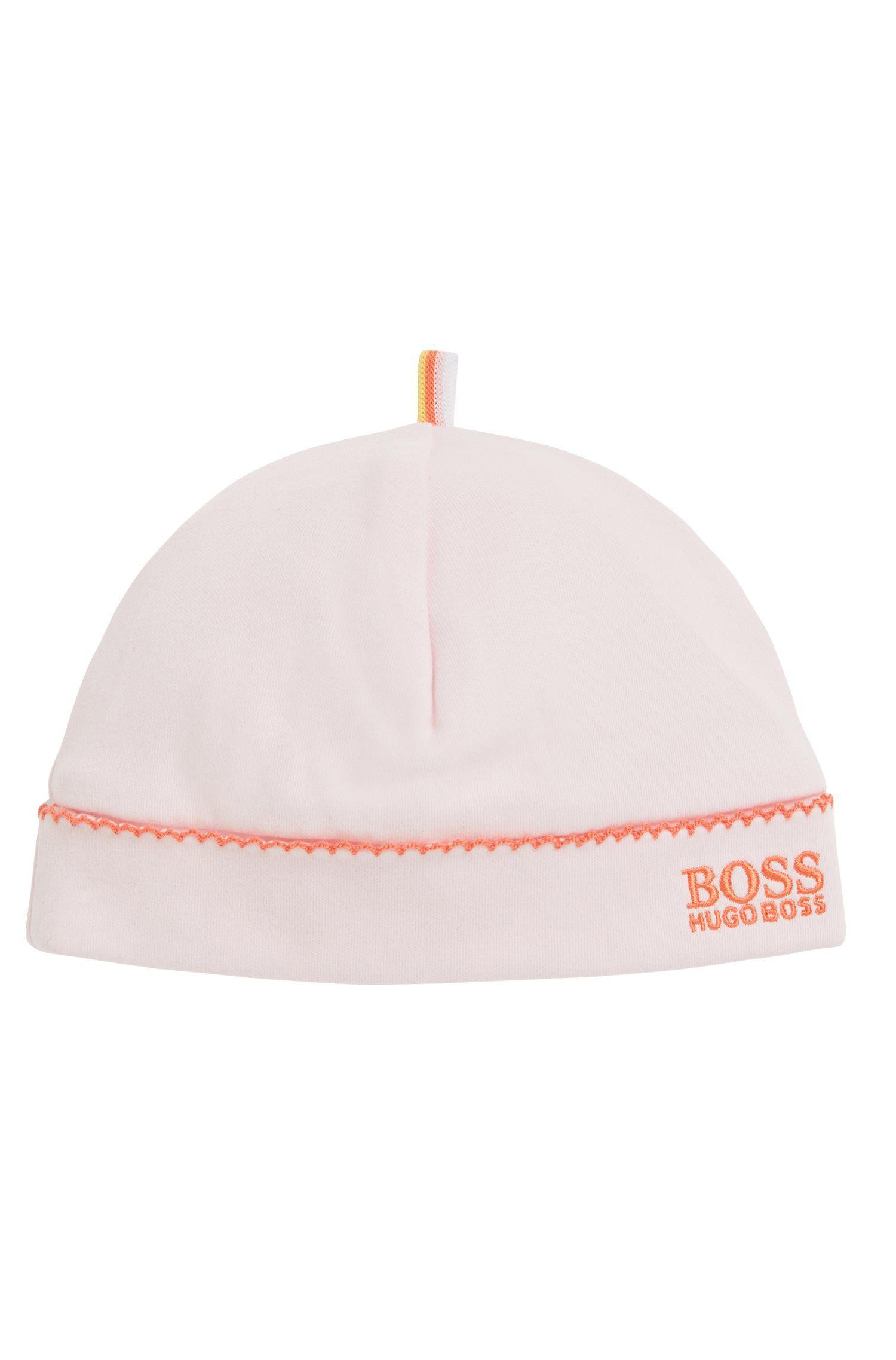 Baby-Mütze aus Interlock-Baumwolle, Hellrosa
