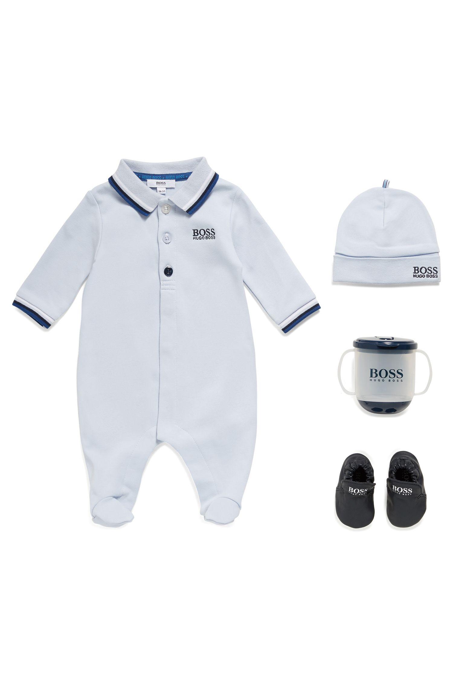 Baby hat in interlock cotton, Light Blue