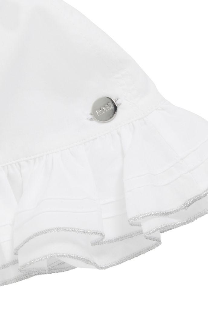 Cappello da sole da neonata in cotone percalle