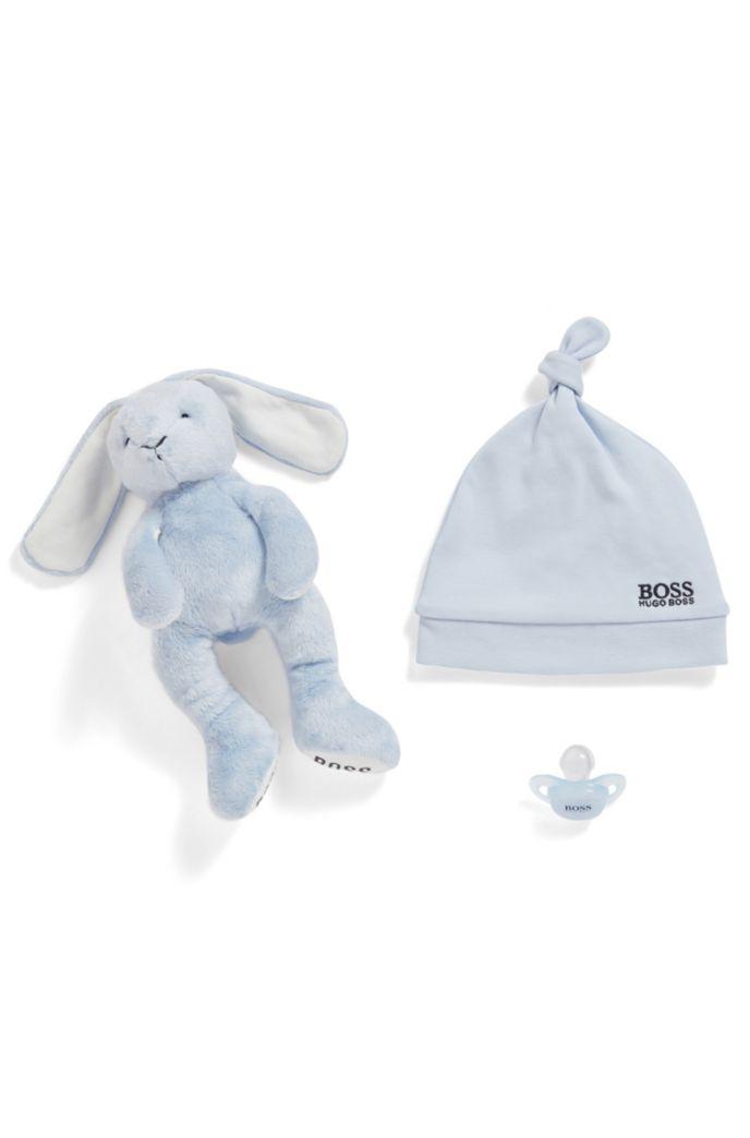 Baby-Mütze aus reiner Baumwolle mit Logo-Stickerei