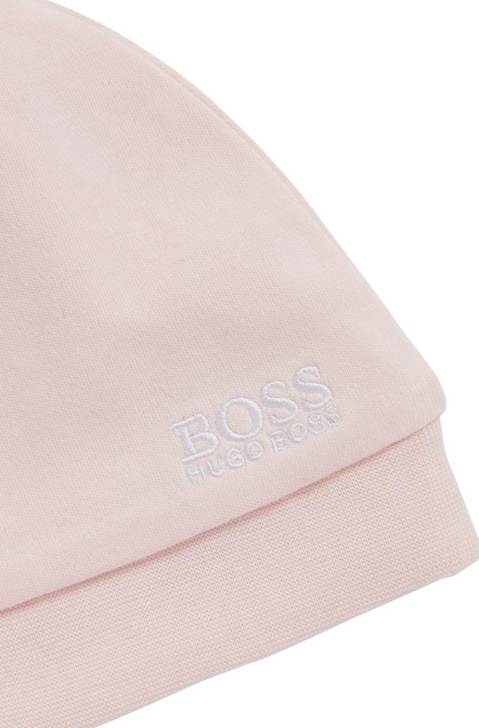 Bonnet pour bébé en pur coton avec logo brodé