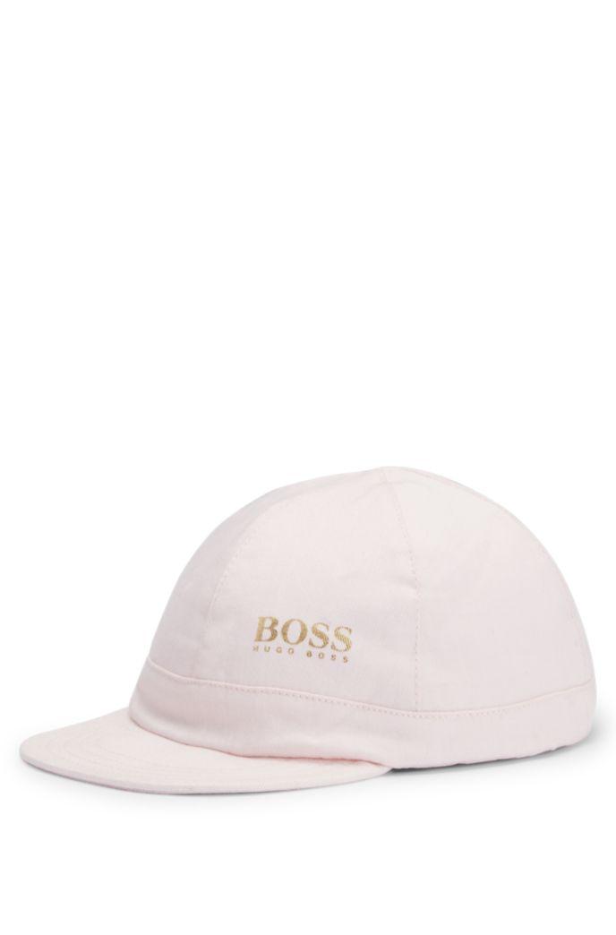 Baby-Cap aus Baumwoll-Twill mit goldfarbenem Logo