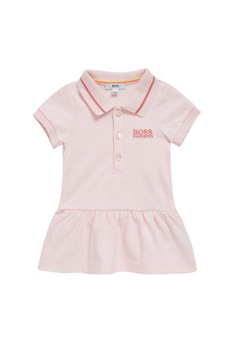 Robe de tennis pour bébé en piqué de coton stretch, Rose clair