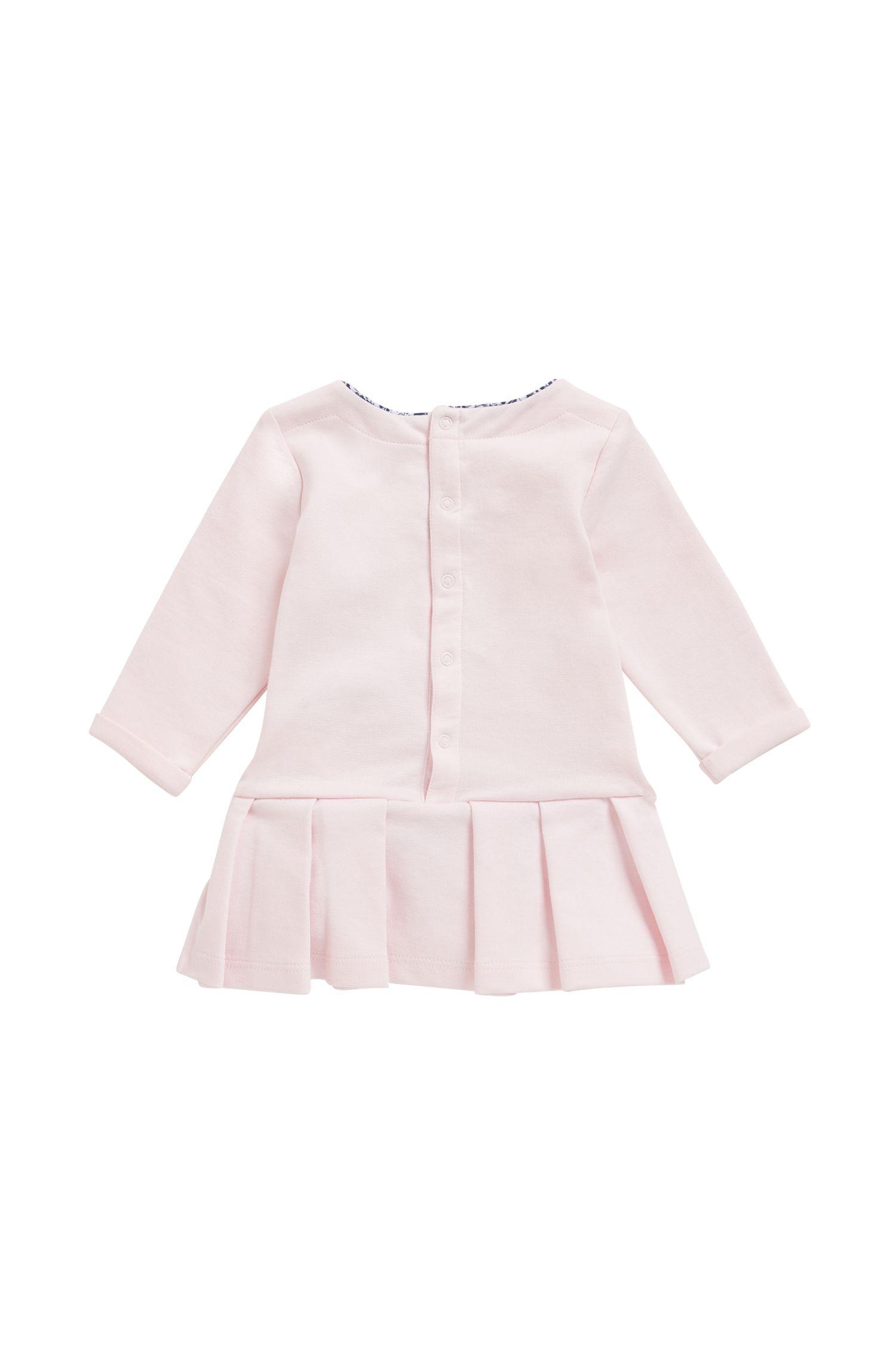 Baby-Kleid aus Milano-Jersey mit Popeline-Details, Hellrosa