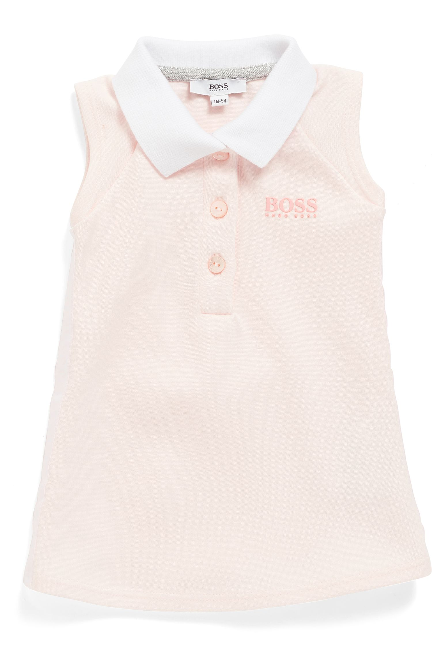 Baby-Tenniskleid aus Stretch-Jersey, Hellrosa