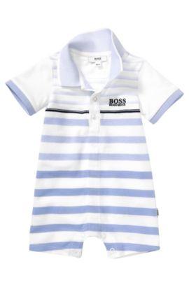 Baby-Spieler-Body ´J94108` aus Baumwoll-Mix, Weiß