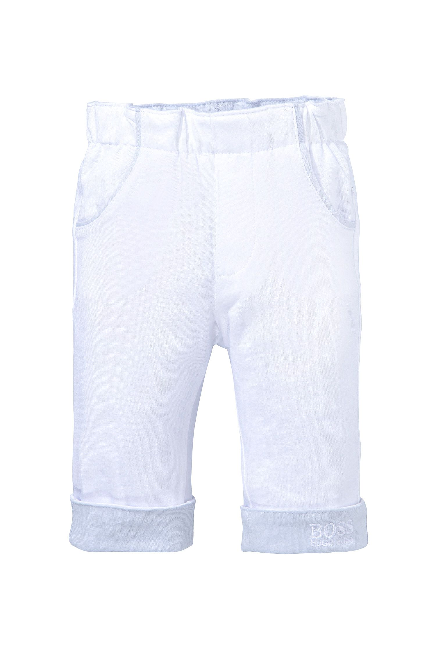 Tweezijdig te dragen kinderbroek 'J94110' van zacht katoen