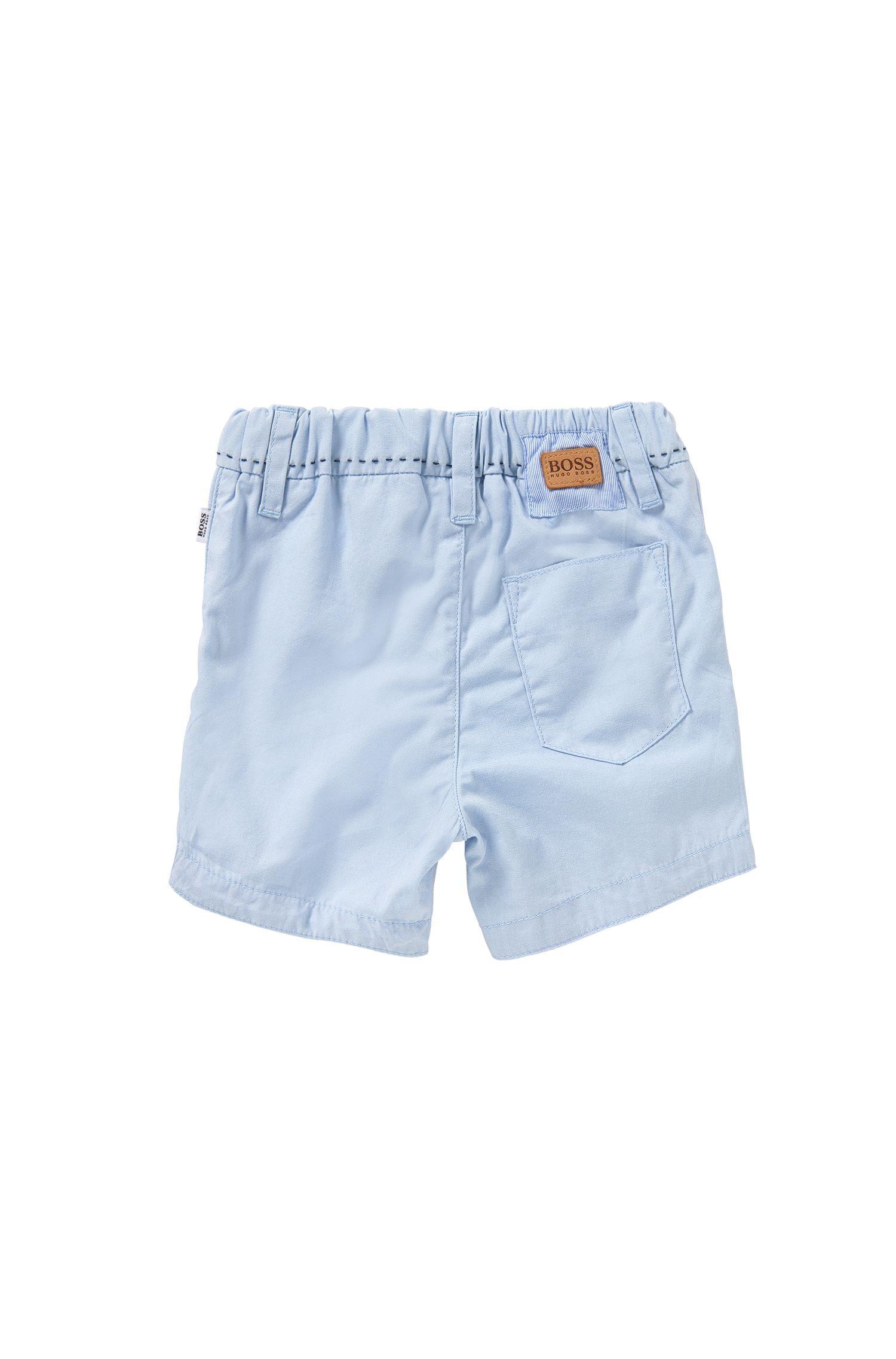 Short pour bébé en coton pourvu de détails à rayures: «J94154»