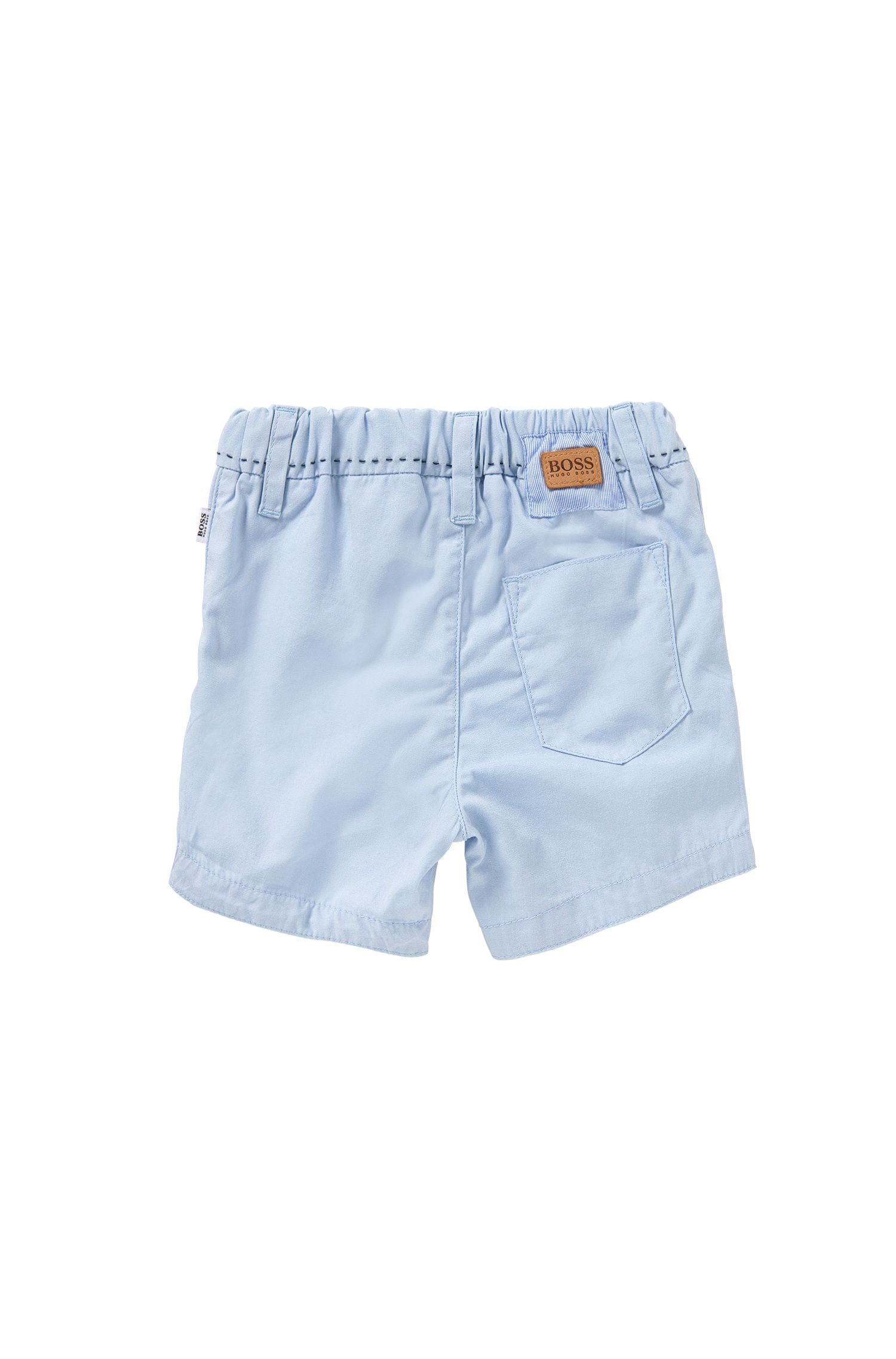 Pantaloncini corti da neonato in cotone con dettagli a righe: 'J94154'