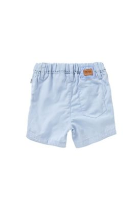 Newborns' shorts in cotton with striped details: 'J94154', Light Blue