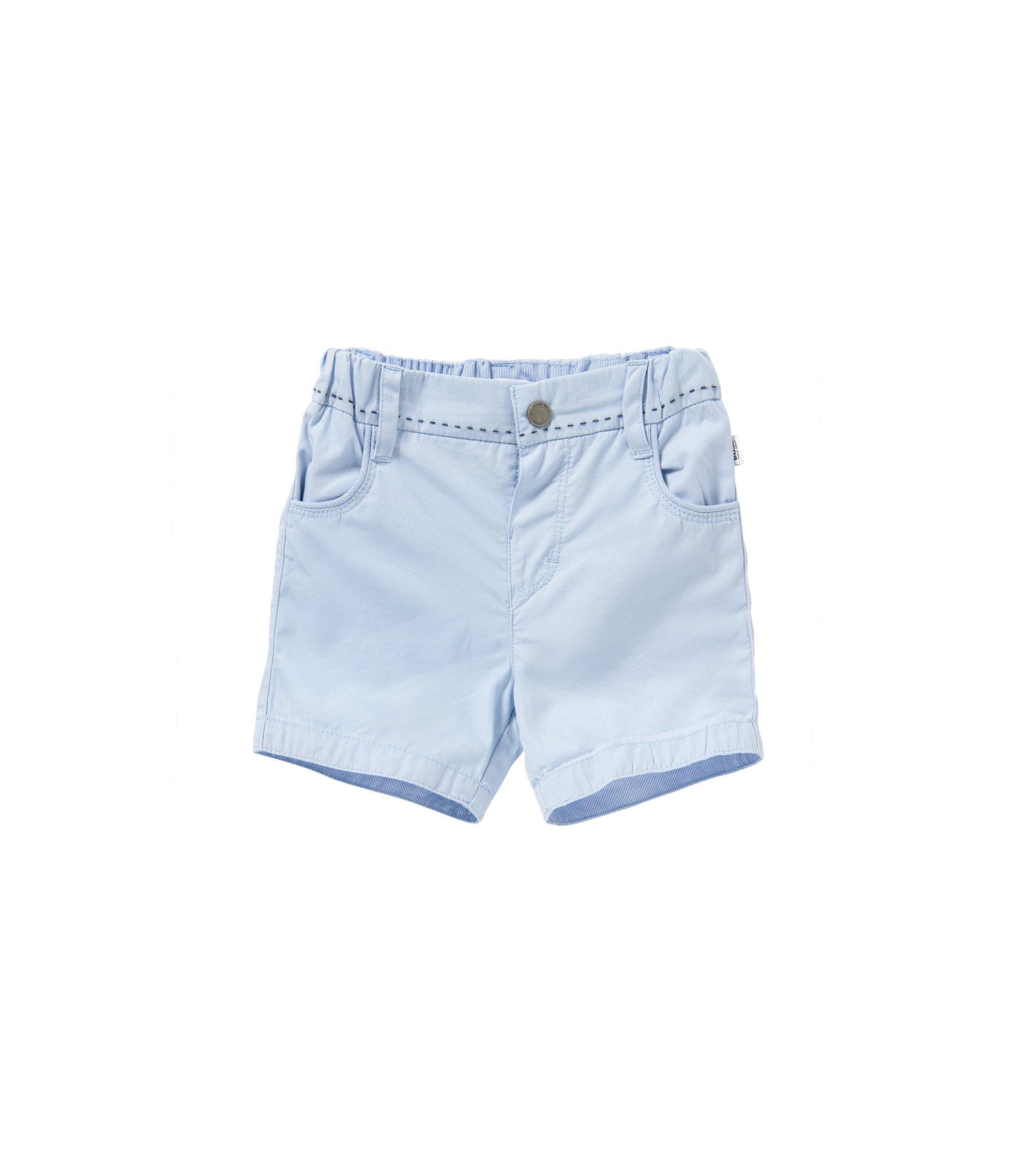 Short pour bébé en coton pourvu de détails à rayures: «J94154», Bleu vif