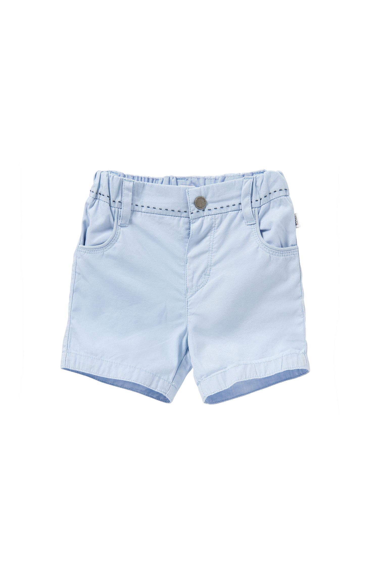 Newborns' shorts in cotton with striped details: 'J94154'