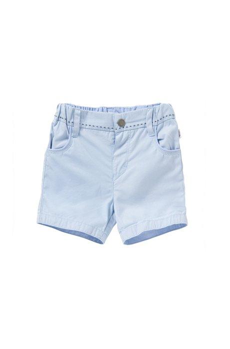 Baby-Shorts aus Baumwolle mit Streifen-Details: 'J94154', Hellblau