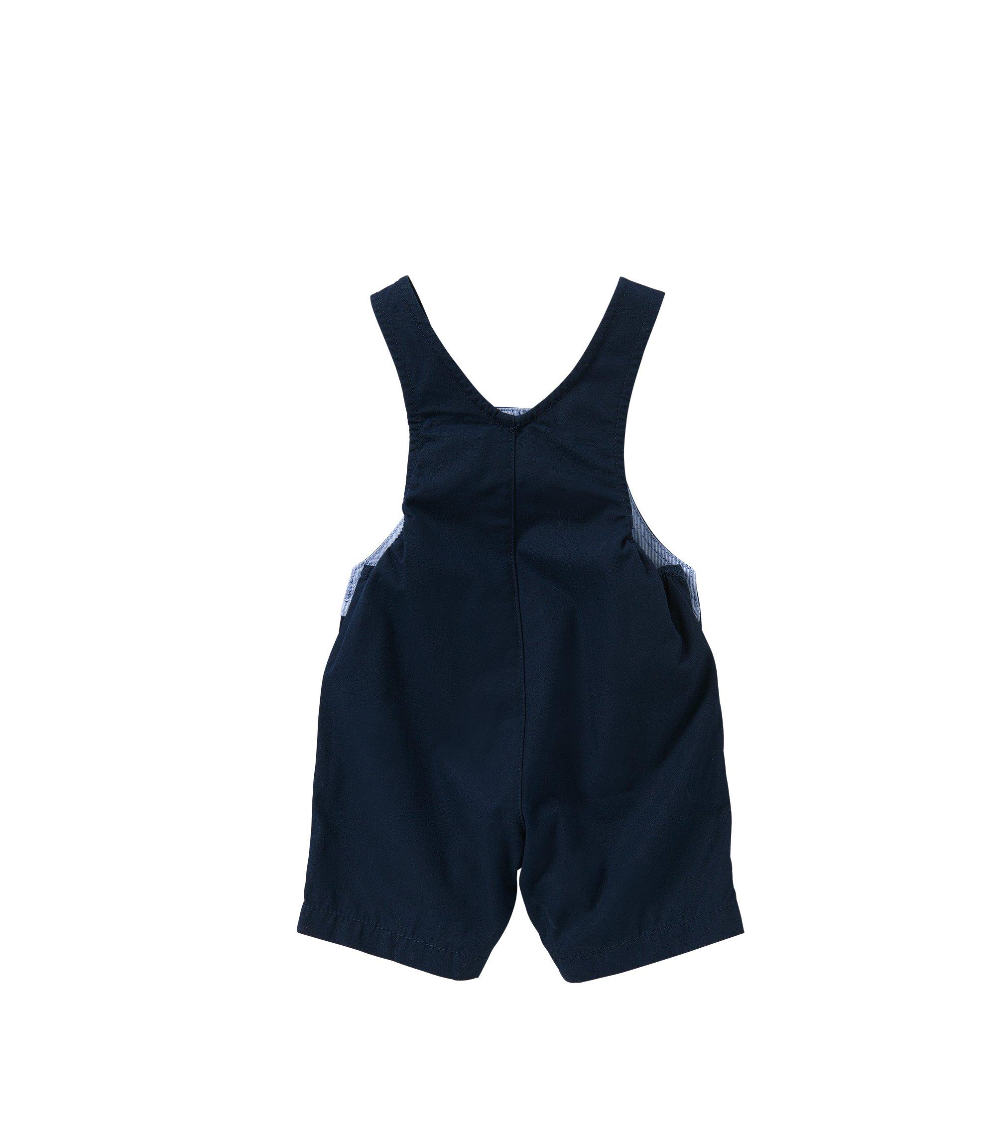 Baby-Latzshorts aus Baumwolle mit Druckknöpfen: 'J94156', Dunkelblau