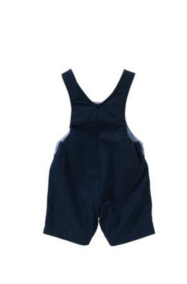 Peto de pantalón corto para bebé en algodón con botones automáticos: 'J94156', Azul oscuro