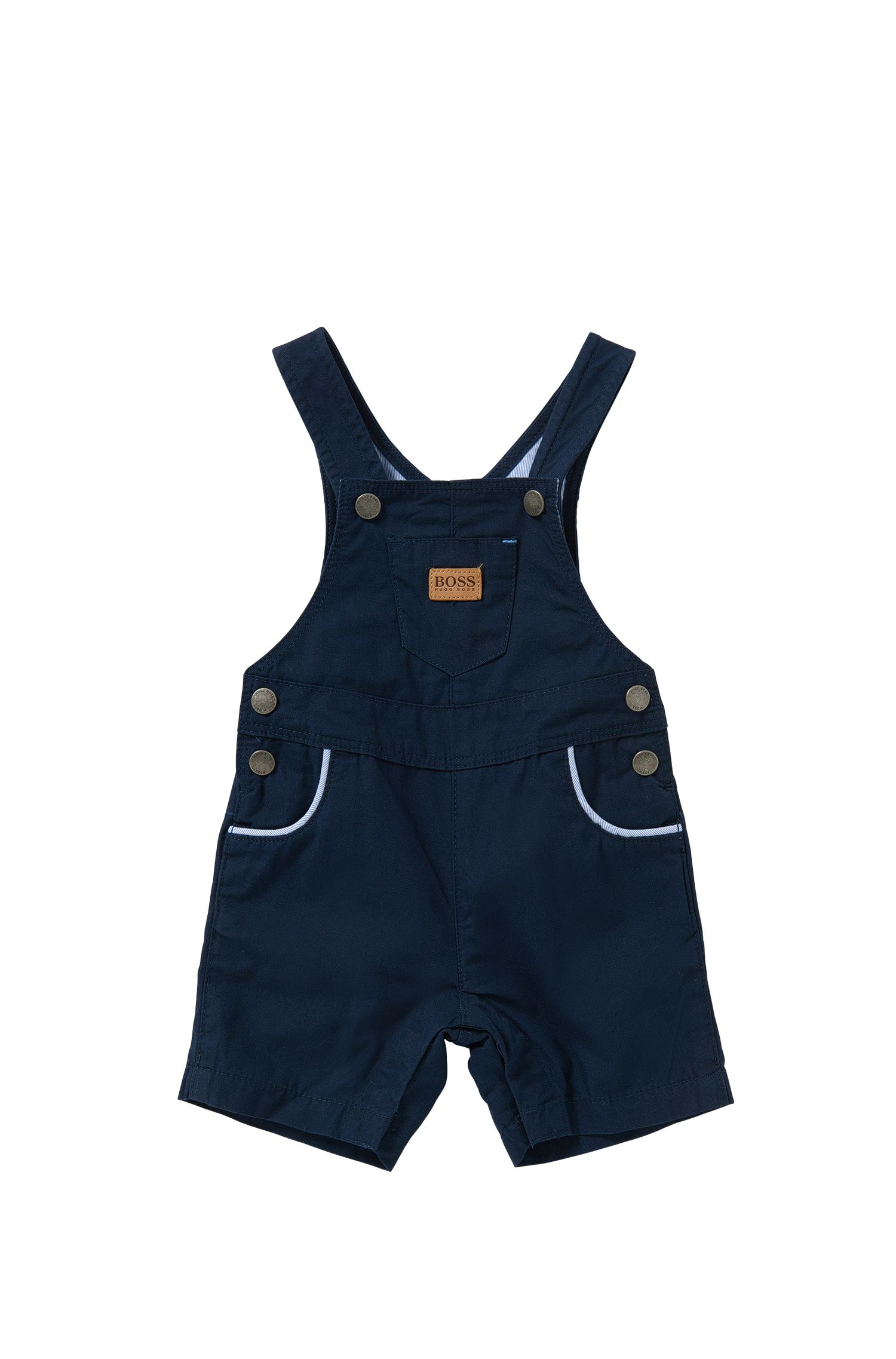 Newborn's dungaree shorts in cotton with snap buttons: 'J94156'